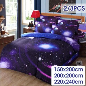 3D Printed Starry Sky Comforter Bedding Set Winter Duvet Cover Set Bedsheet Pillowcase Single Double Person Bedlinen Bedspread