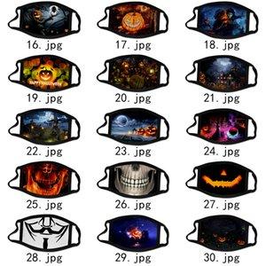Halloween protetores faciais engraçado costume máscara masque decorações máscaras desenhos animados adulto algodão mascherina máscara lavável transporte DHL livre reutilizável