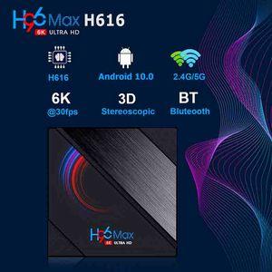 H96 Max h616 Anddroid 10 TV Box 2GB 16GB Allwinner 2.4G 5G Wifi 6K Bluetooth vs TX6S TX6S T95 T95H