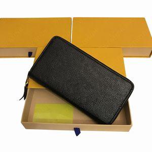 Женские большой емкости, тисненая кожа кошелек кошелек сумки клатчи мульти карт молния мешок карточки монет Кошельки M60171