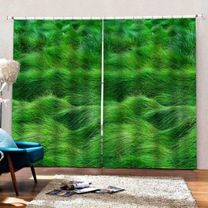 green grass curtain Customized 3d curtains new bay window balcony thickened windshield blackout curtains 3d curtains
