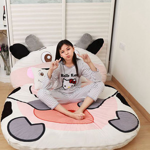 plush beanbag single bed big cartoon animal mattress cute creative bedroom sleeping mat temporary bed 9 styles KKA8083