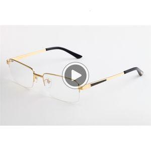 안경 데너 돋보기 디럭스 사각형 광학 빈티지 티타늄 반 무테 프레임 남성 안경 데너 여성