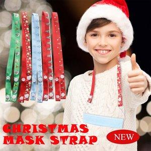 Маска ремни Рождественская елка Снежинка печать Anti-Loss Mask висящей веревки Удобный легкий Удобная Anti-Loss Mask висячие DHD1599