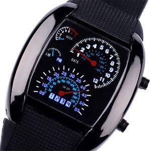 Fashion Men's Watch Unique LED Digital Watch Men Electronic Sport Watches Clock saat relojes para hombre relogio masculino