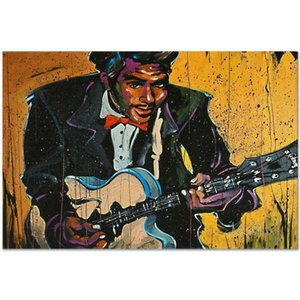 David Garibaldi Chuck Berry Home Decor Handpainted &HD Print Oil Paintings On Canvas Wall Art Pictures 7183