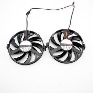 2 uds GPU cooler FY09010H12LPB FDC10H12S9-C ventilador de Refrigeración para Radeon XFX R9 380 X R7 350 360 370 GRÁF tarjeta