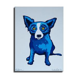 Джордж Rodrigue голубой собаки 3-33, HD Холст печати Home Decor Art Живопись / (Unframed / Framed)
