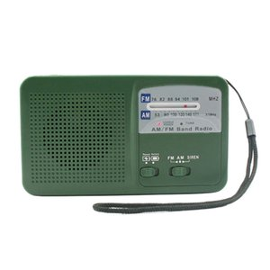 Portable AM FM Dynamo Radio Emergency Hand Crank Solar Radio with 500MAh Power LED Light SOS Alarm for Camping Outdoor