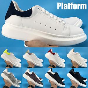 Nuova piattaforma Top Platform Mens Sneakers Riflettente Triple Black Bianco Multi Color Verde Velvet Upper Uomo Uomo Donna Moda Scarpe da corsa in vera pelle