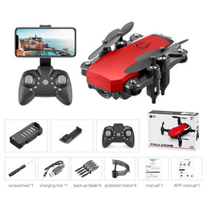 LF606 Wifi FPV dobrável RC Drone com 5.0MP 4K HD Camera Altitude Reter Flips Modo Headless 3D 360 Rotating RC Aircraft Airplane