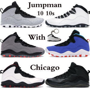 Jumpman 10 10S Mens Basketball Chaussures Chicago Fumée Fumée Gris Drake Ovo Black White Wings Tinker Hommes Sports Sports Sports US 7-13