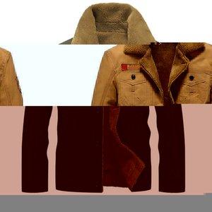 Men's Jackets 2021 Winter Bomber Jacket Men Pilot Warm Male Fur Collar Mens Army Tactical Fleece Drop