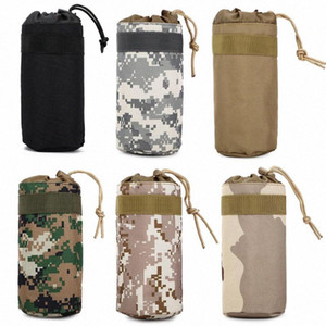 Outdoor Hiking Camping Men Women Tactical Molle System Water Bottle Bags Kettle Army Pouch Holder 1JSk#