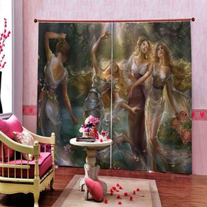 Home Decor 3D Blackout Curtain Beauty angel Curtains For Living Room Bedroom animal Kids Room Curtains Large 3D Photo Drapes