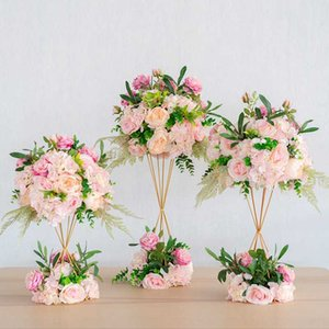 Wedding flower decoration props hotel wedding main table flower T stage guide ball artificial decoration