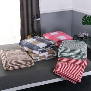 Niobomo Grille / Stripe Imprimer été Quilt Consolateur Blanket Couvre-lit quilting Home Textiles Convient gratuitement pour adultes Enfants