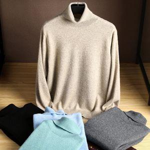 zocept 겨울 남자의 캐시미어 스웨터 편직 높은 칼라 터틀넥 남성 소프트는 패션 풀오버 스웨터 플러스 사이즈를 따뜻하게