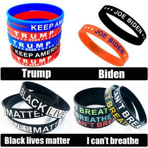 Vente en gros Lives Noir Matière silicone Bracelet Bracelet manchette Trump Biden élection Bracelet caoutchouc Bracelet Bracelet unisexe Bijoux