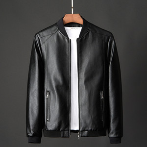 Men's Real Leather Jacket Men Motorcycle winter coat Men Warm Genuine Leather Jackets large size suede casaco 200922