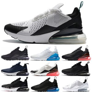 Nike Air Max 270 Womens Üçlü Beyaz Black için 2020 Koşu Ayakkabı Regency Mor Eur 36-45 gerçek Kadınlar Spor Sneakers Ayakkabı Be Bred