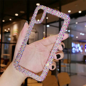 Luxury Diamond Designer Phone Cases Cover For iPhone 11 12 Pro Max Xs MAX Xr 6 7 8 Plus Case Clear Rhinestone Glitter Phone Case For Samsung