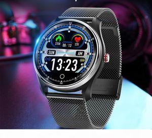 New ID MX9 ekg smart watch blood pressure PPG heart rate monitor blood pressure monitor multilingual Smartwatchs clock men for Andriod Ios