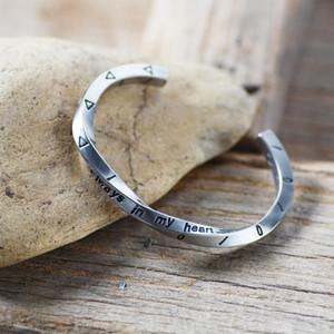 زوجين التيتانيوم الصلب الحب فايكنغ الحرب سوار دائما في قلبي VIKING سوار تويست للرجال مجوهرات