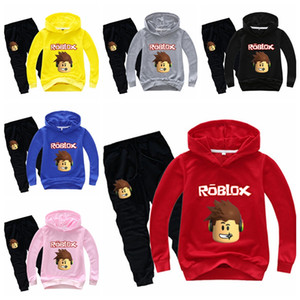 Roblox Hoodie Toddler Boy Clothes Funny Style Casual Comfortable Pants Sweatshirt Children Tracksuit Two Piece Set Roupa