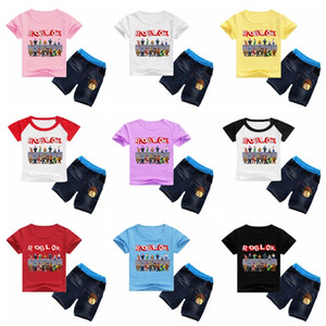 ROBLOX Summer Cotton T-Shirt+Short Pants 2020 Baby Boys Girls Cotton Clothing Sets Clothes set Outfits sportswear