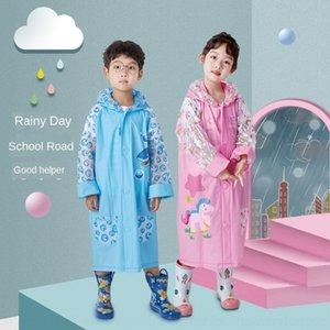 YVf4h capa de chuva meninos e meninos do jardim de infância da escola primária e secundária er rainco tong bao er tong bao estudantes infláveis' saco infantil