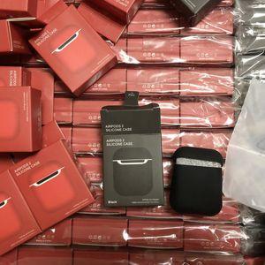 Новый наушник чехол для Apple Airpods 1 2 про чехол силиконовый чехол для AirPods наушников Earpods Earbuds зарядки Box ударопрочный