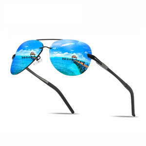 H2OR Brand Men Polarized Sunglasses Classic Pilot Rimless Driving Sun Glasses Fashion Male Mirror Glasses High Quality UV400 007