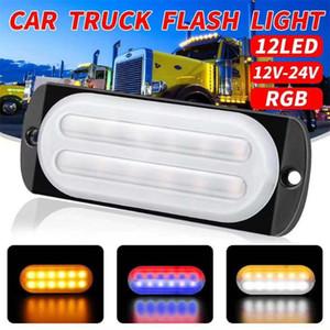 10-24V Durable Car Truck LED Rear Tail Light Warning Lights 12 W Rear Lamp For Trailer Strobe Flash Lights Car Accessories