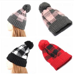 Gorros Cap mulheres Gorro de Inverno Flanged manta Chapelaria Pom Pom lã quente Caps Knitting Bonnet Beanie chapéus de festa LJJP531