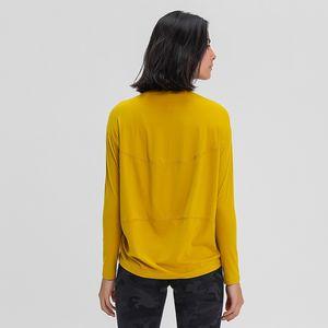 luyogasports lu üstleri gevşek uzun kollu kadın ince uygun gömlek nefes kadın eğitim spor lu yoga giyim Tişörtlü hoodies çalışan
