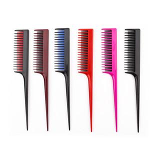 dois Destaque Cor do cabelo Combs Hair Salon Dye Comb Separe Combs cauda Parting Para Hair Styling cabeleireiro antiestático Pin