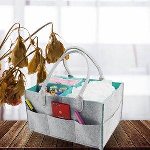 Felt Cloth Storage Bag Foldable Baby Large Size Diaper Caddy Changing Table Organiser Toy Storage Basket Car Organizer