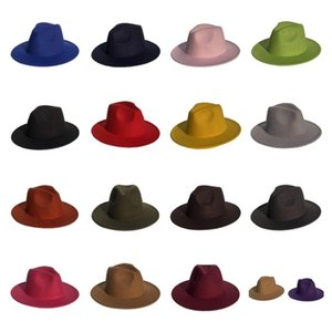 fashion Men's Fedora Hat For Gentleman hat Women Hats Wide Brim British Cap Band Wide Flat Brim Jazz Hats Party Hats T2C5280