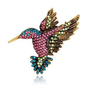 Casamento de luxo criativo Rhinestome Cristal Woodpecker Broches Pinrs Scarf jóias clips Moda Broche Pin New Arrival