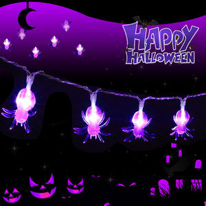 Hot sell 1.5m 10Led Halloween Pumpkin Ghost Skeletons Bat Spider Led Light String Lamp Hanging Horror Halloween Decoration Party Supplies