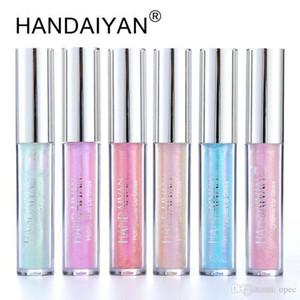 HANDAIYAN 6 cores Brilho Glitter Shimmer Mermaid Lipgloss Lip Tint Hidratante impermeável metal de longa duração líquido Lip Gloss Brilho Labial