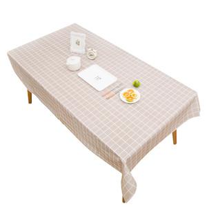 İskandinav PVC Masa Örtüsü Sarı Ekose çizgili Baskı Masa örtüsü kolye Dantel Dekor Dikdörtgen Çay Masa Pad Meal Bezi