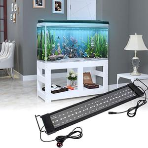 Lámpara 16W 72LED Luz solar del césped con control remoto 19.96inch Adecuado para su 19.96-33.86inch largo acuario Negro