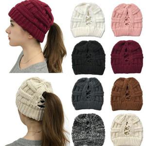 Kadın Örme At Kuyruğu Kapaklar Yüksek Criss Çapraz At Kuyruğu Beanie Kış Sıcak Örgü Rahat Şapka Noel Partisi Şapka 8 Stilleri DA999
