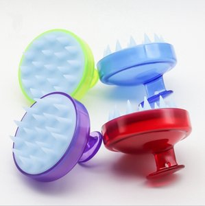 Shampoo Massage Brush Silicone Scalp Hair Brushes Shampoo Comb Adult Shampoo Massager Beauty Tools Barbershop Supplies 4 Colors