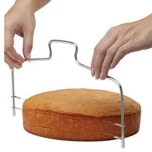 Оптовая Кухня DIY выпечки аксессуары двойная линия торт Slicer Главная DIY торт Выпрямитель Cutting Line Регулируемая Торты Slicer