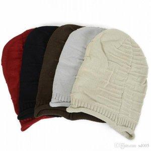 Cgjxs práctica Lana Beanie al aire libre Tide ganchillo de punto de cobertura casquillos del cráneo para los hombres y las mujeres de la calle danza sombrero caliente universal 5 6BD B