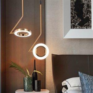 Nordic Проектировщик светильники подвесные светильники LOFT Спальня прикроватный Ресторан LED освещение канделябра Luminaria Бар Brass Kitchen Светильники