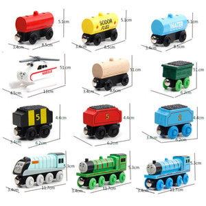 59 styles mini Magnetic train corolful wooden train Model wooden car toy Track locomotive car for children birthday gift